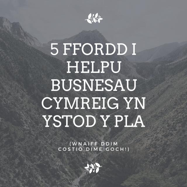 5 Ffordd I Helpu Busnesau Cymreig Yn Ystod Y Pla